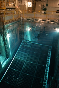A pool storing spent nuclear fuel, via FirstEnergy Corp.