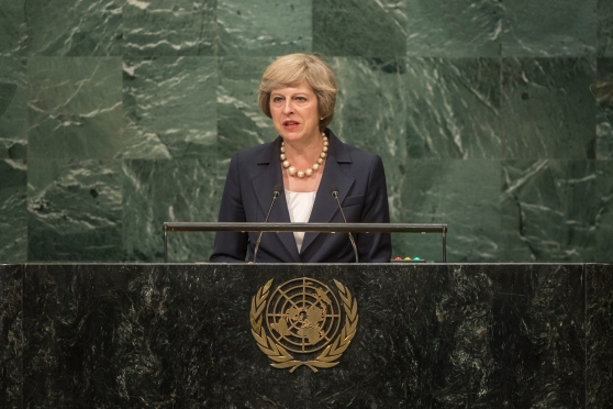 May Speaking at 71st UN General Assembly Session (Tom Evans)